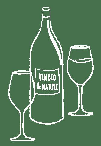 Illustration vins bio et naturels