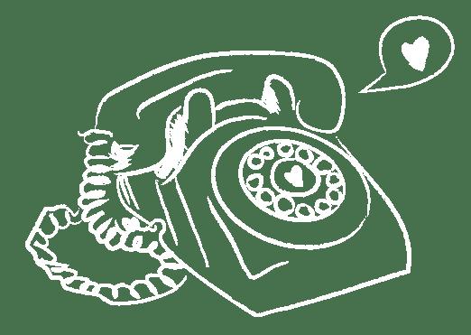 Illustration téléphone restaurant bio