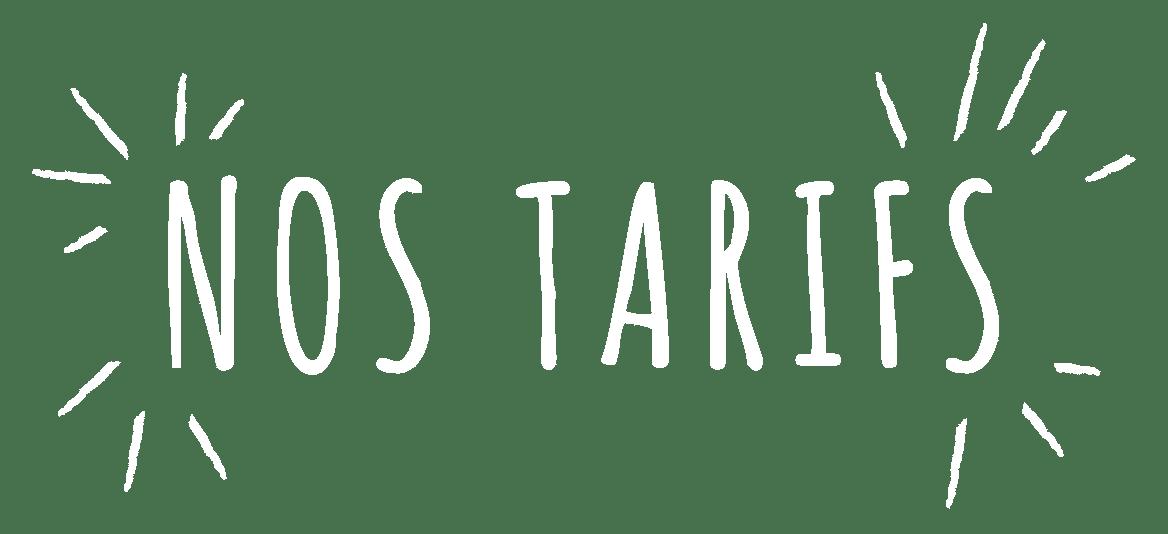 Logo nos tarifs